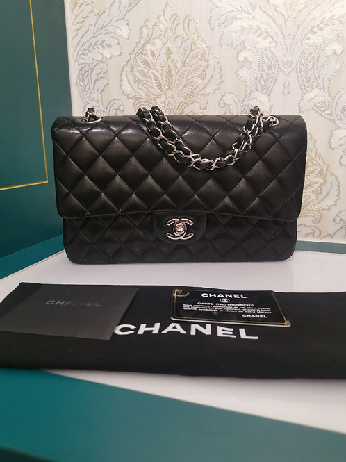 Chanel Classic Double Flap Black Lamb wth SHW