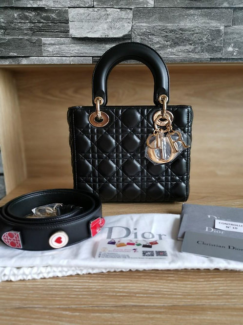 Brand New My ABCDior Lady Dior Small Black with GHW