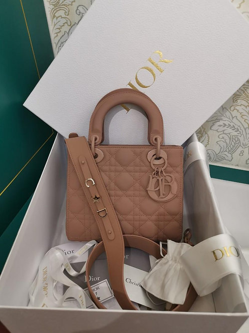 BNIB My Lady Dior Small My ABCDior Bag Ultra Matte Blush Calf