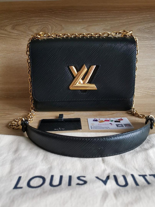 Like New LV Twist MM Black EPI with GHW