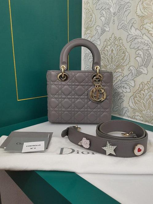 Like New Lady Dior My ABCDior Grey Lamb Light GHW