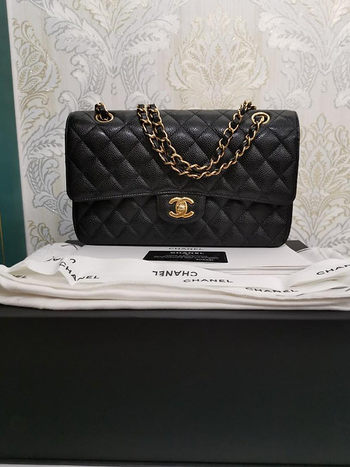 #25 LNIB Chanel Medium Classic Double Flap Black Caviar with GHW