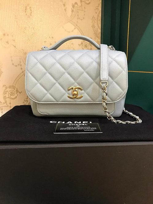 #30 LNIB Chanel Affinity Business Flap Medium Greylish Blue (Cash S$5,500)