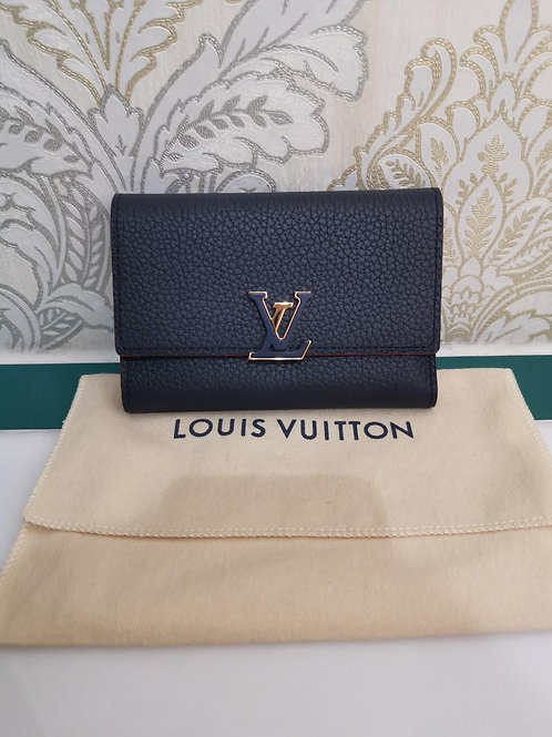 Brand New LV Capucines Compact Wallet Marine Rouge with GHW