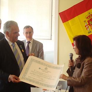 Medalla concedida a nuestro Presidente Jose Gil