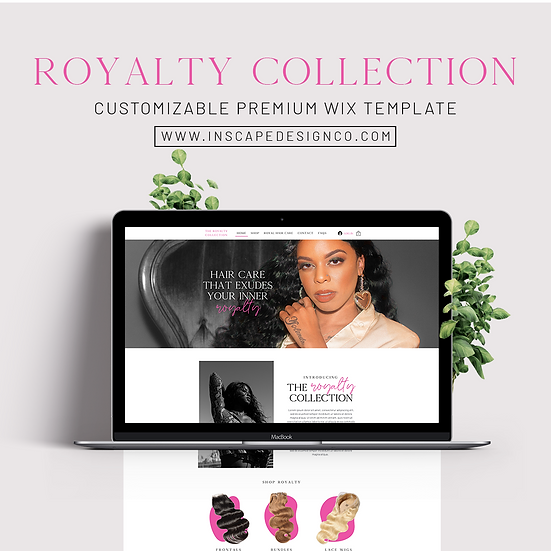 ROYALTY COLLECTION {WIX TEMPLATE}