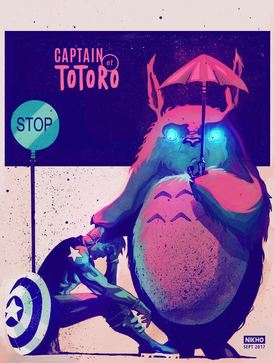 NIKHO - CAPTAIN AMERICA ET TOTORO