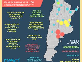 Desastres en Argentina: Enero 2017
