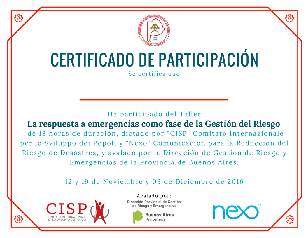 Certificado CISP Nexo