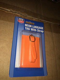 Orange Luggage Tags
