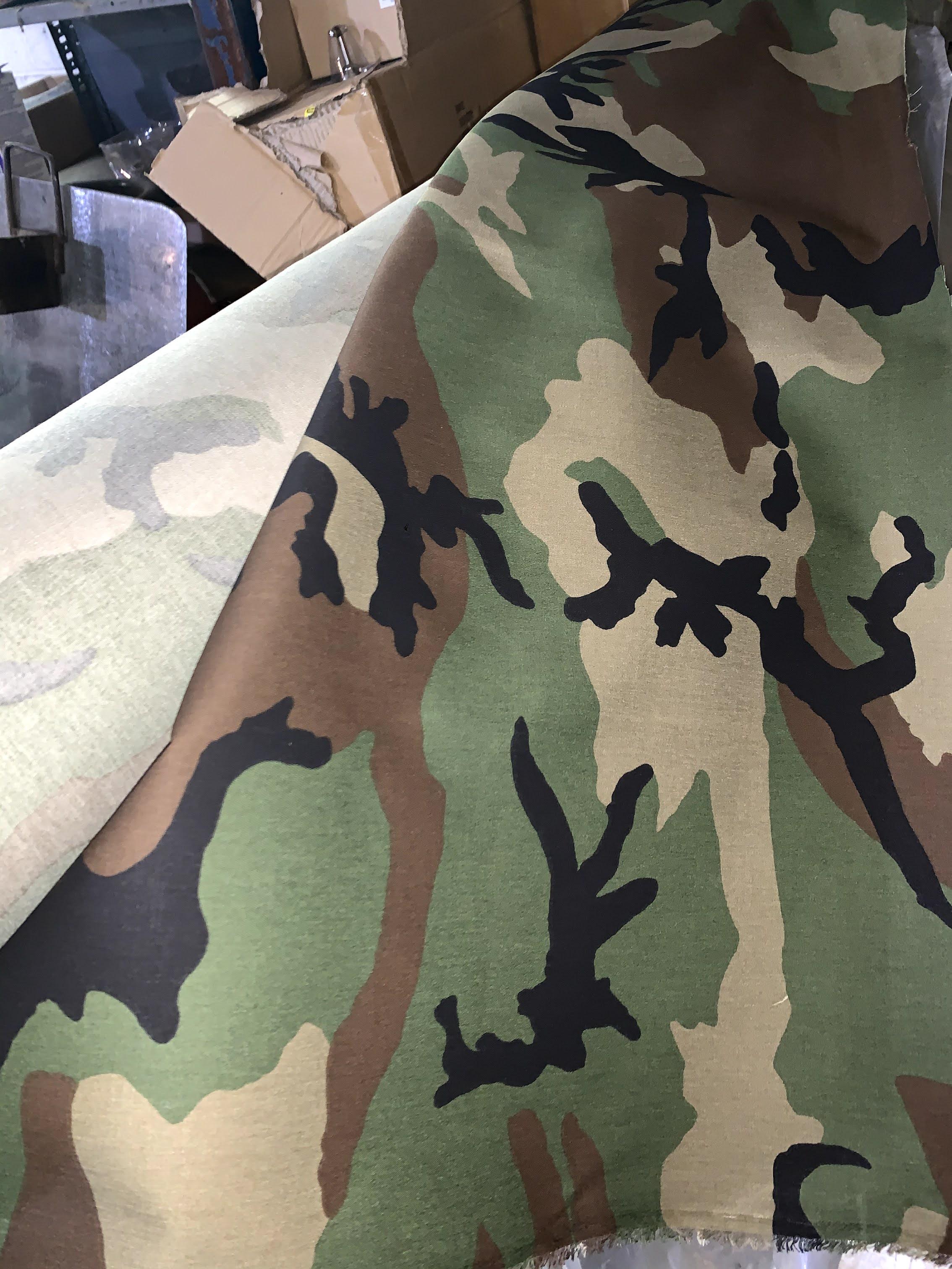 Woodland Ripstop Camo Material