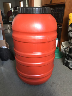 58 Gallon Olive Barrels