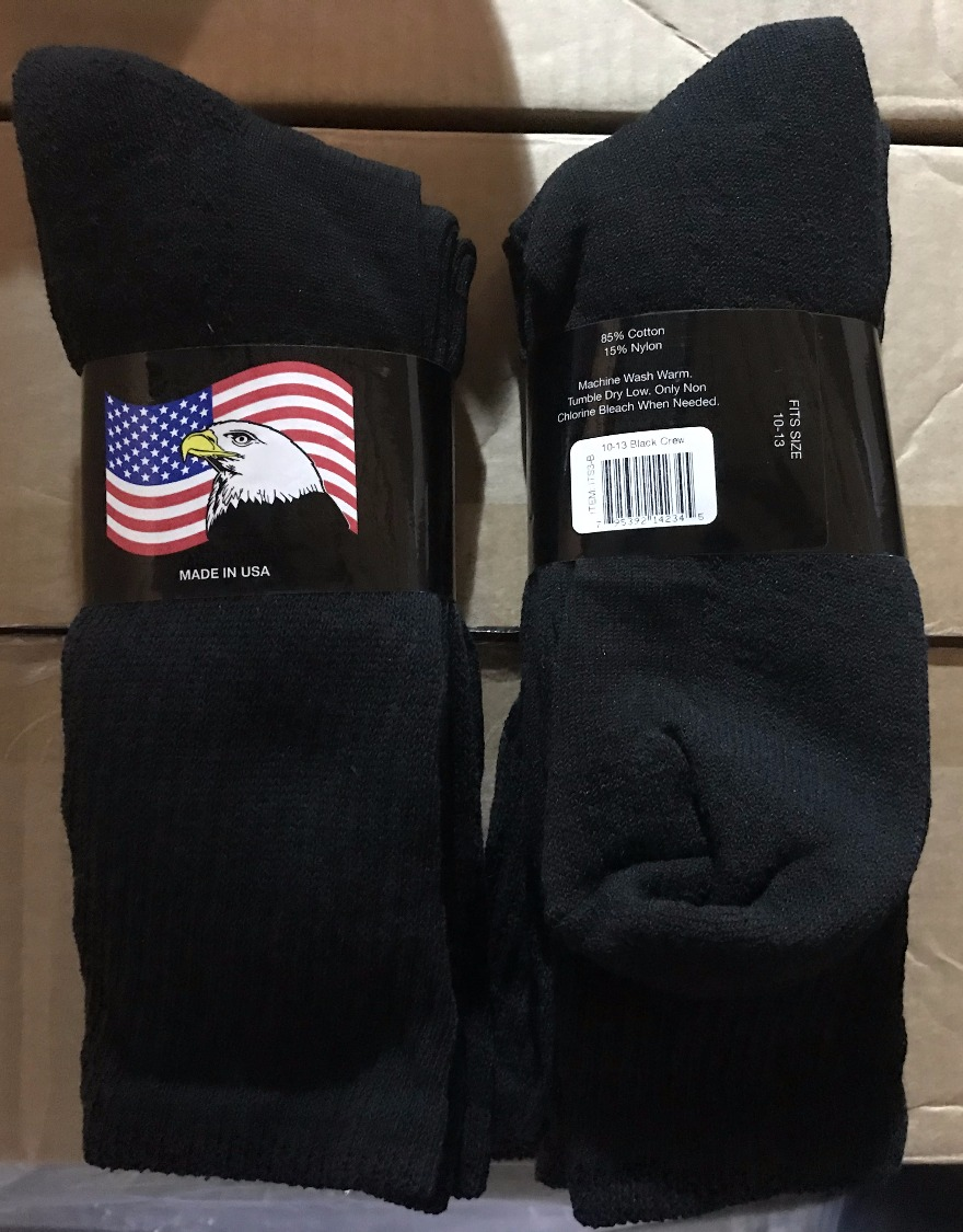 3-Pack Black Work Socks