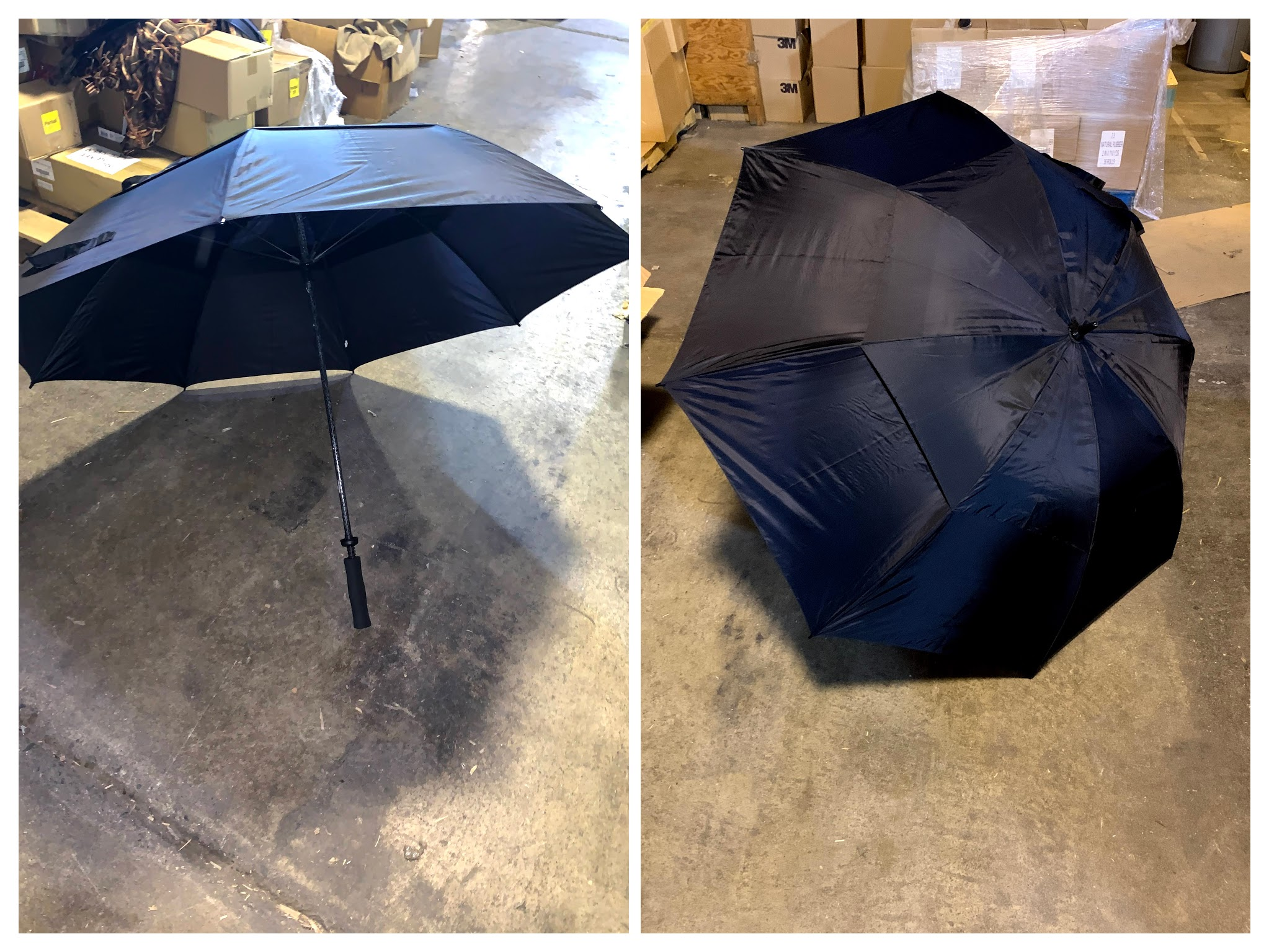 Large Black Golf Umbrella