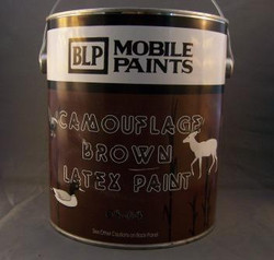 MOBILE BROWN LATEX PAINT