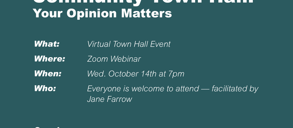 Community Town Hall | Oct 14 at 7pm