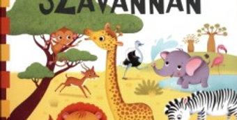 Állatok a szavannán - Kihajtható, verses leporelló