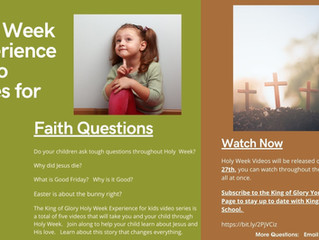 Holy Week Experience Video Series for Kids