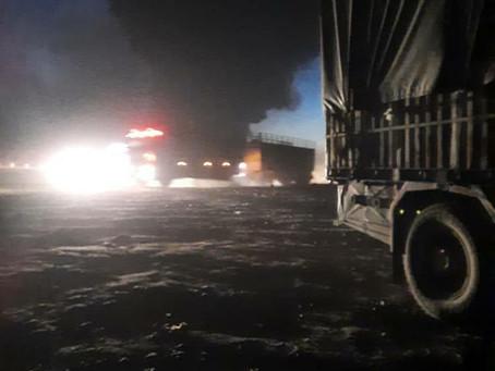Breaking News: Russian Ballistic Missile Hits an Oil Tanker