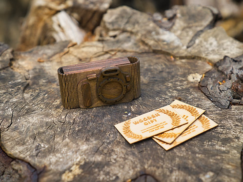 Camera Business Card Holder