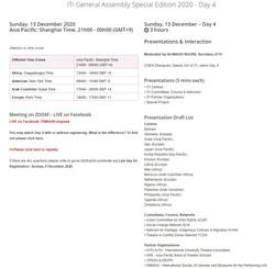 2. ITI General Assembly S.E. Sunday, 13 December 2020