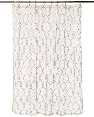 Silver Link Sheer Shower Curtain