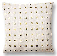Gold Studded Linen 16x16 Pillow