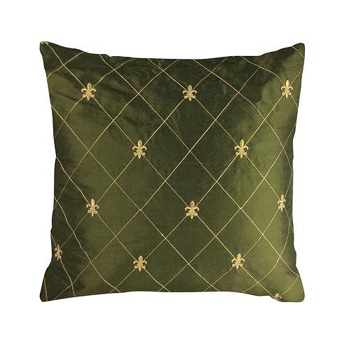 Fleur De Lis Pillow, Green