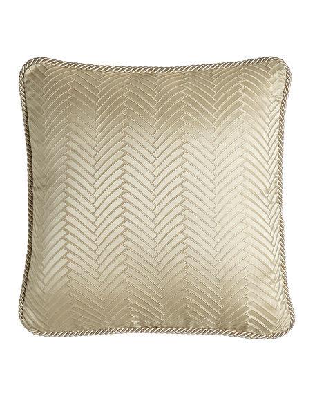 "Montfort Herringbone Pillow, 18""Sq"