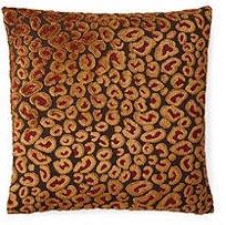 Cheetah 18x18 Pillow, Ruby