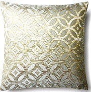 Artemis 16x16 Pillow, Silver/Blue