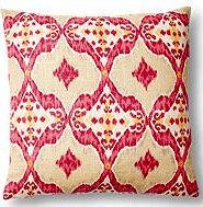 Naira 17x17 Pillow, Berry