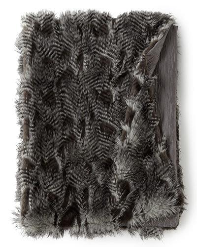 Porcupine Faux Fur Throw