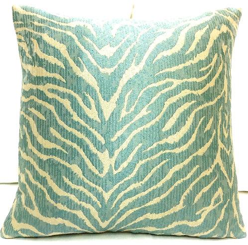 Zebra 18x18 Pillow, teal