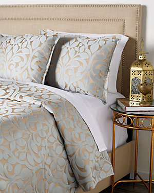 Eloise Duvet Set, Blue/Bronze