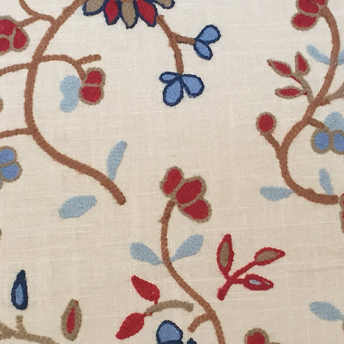Embroidered Flowers (multiple colors avail)