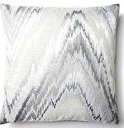Gabriella 16x16 Pillow, Silver