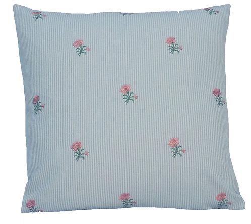 Rosie 18x18 Pillow, Blue/Pink