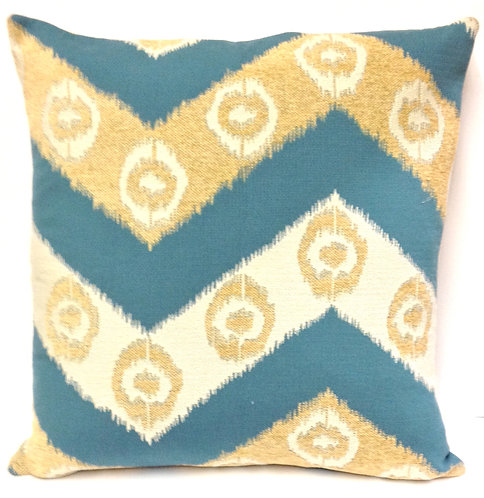 Zig-Zag 18x18 Pillow, Blue