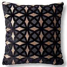 Kaleidescope 18x18 Pillow, Black/Gold