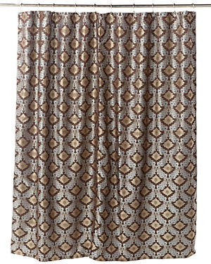 Chocolate/Blue Shower Curtain