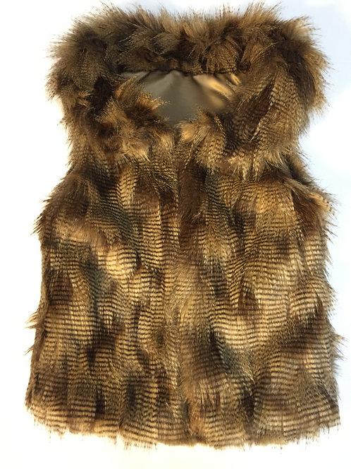 Porcupine Caramel Faux Fur Vest