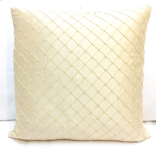 Pearl Pintuck 18x18 Pillow