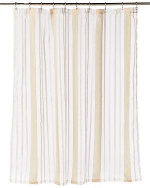 Gold/White Stripe Shower Curtain