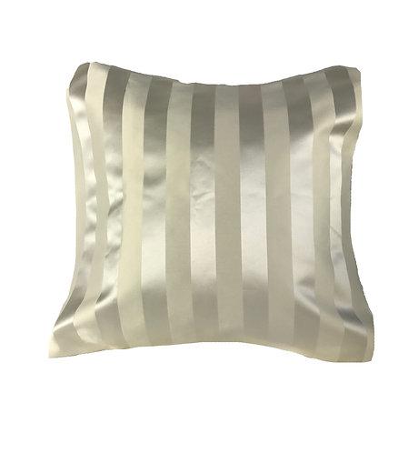 Ivory Stripe 18x18 Pillow