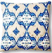 Naira 17x17 Pillow, Indigo