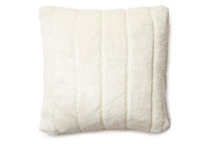 Arctic Fox 16x16 Pillow, White