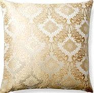 Ivanka 18x18 Pillow, Gold/Ivory
