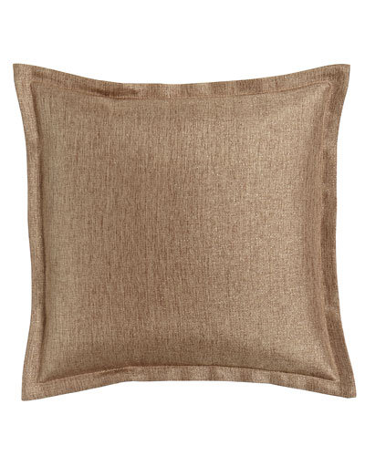 "Natasha 20"" Square Pillow, Bronze"