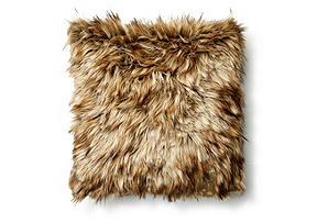 Mara 17x17 Faux Fur Pillow, Chesnut